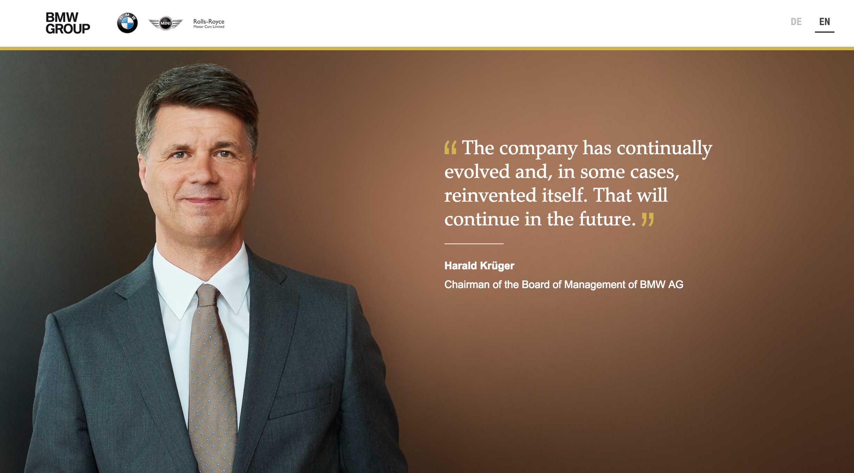 CEO BMW zaprasza na wydarzenie na oficjalnej stronie