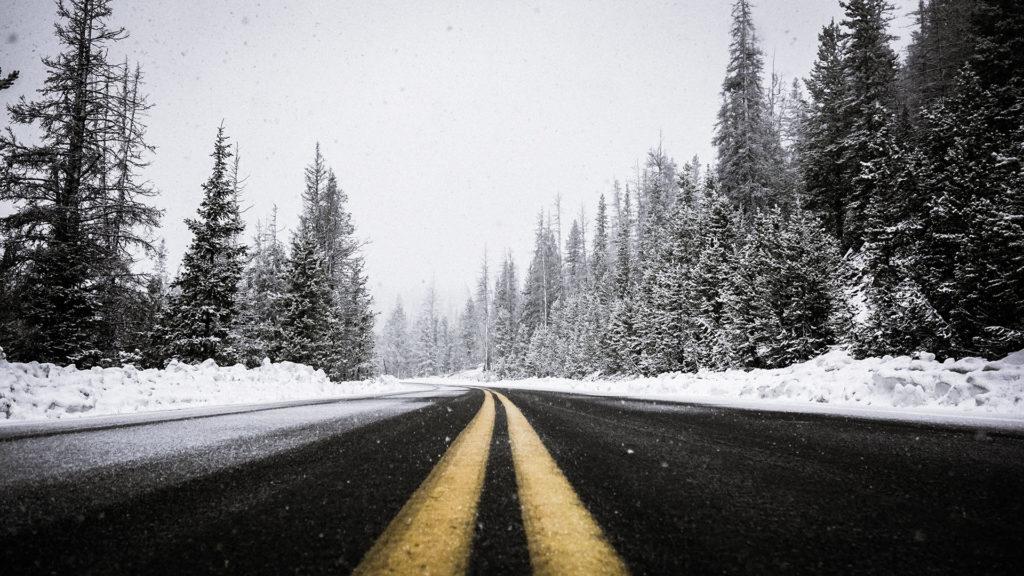 bmw zimą